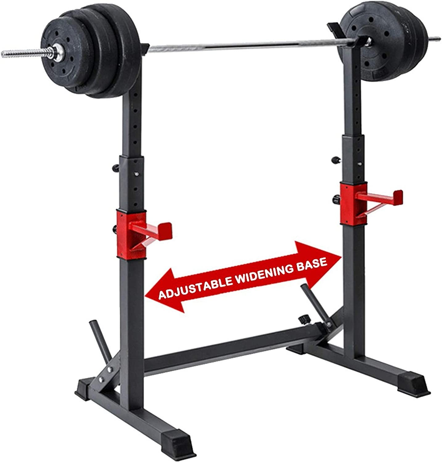 EEUK Adjustable Squat Rack Dipping Station Max Load 550 Lbs Adjustable Steel Free Bench Press Rack Stands Multi-Function Barbell Rack Dip Stand Gym Portable Dumbbell Racks Stands