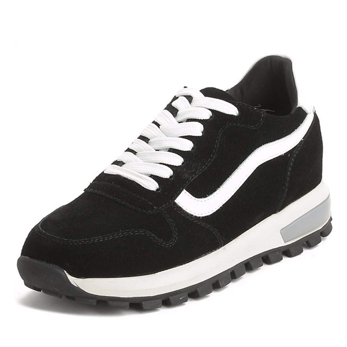 KPHY Damenschuhe/Casual Schuhen Leder Schuhe Schuhe Wild Student Schwarz 40