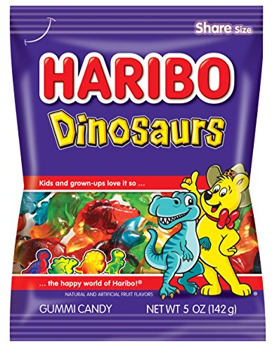 Haribo Gummi Candy, Dinosaurs, 5 oz. Bag (Pack of ()