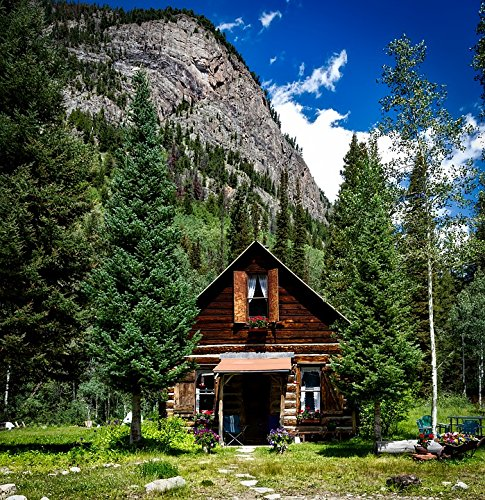 LAMINATED POSTER House Cottage Colorado Quaint Home Log Cabin Poster Quaint Cottage