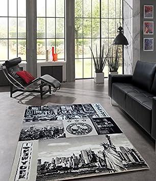 Teppich Designer Wohnzimmer Teppich Stadt New York City - 160x220 cm ...