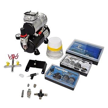 Festnight- Set de Compresor de Aerógrafo con 3 Pistolas Mini compresor de Pistón 310 x 150 x 310 mm: Amazon.es: Hogar