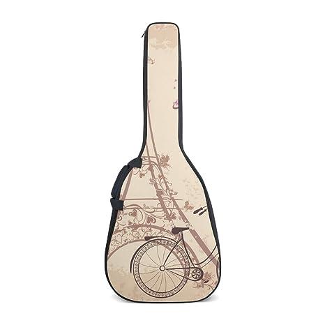 DEYYA Paris Eiffel Toalla Bicicleta Estampado Guitarra Eléctrica Bolsas con Correas Ajustables Mochila