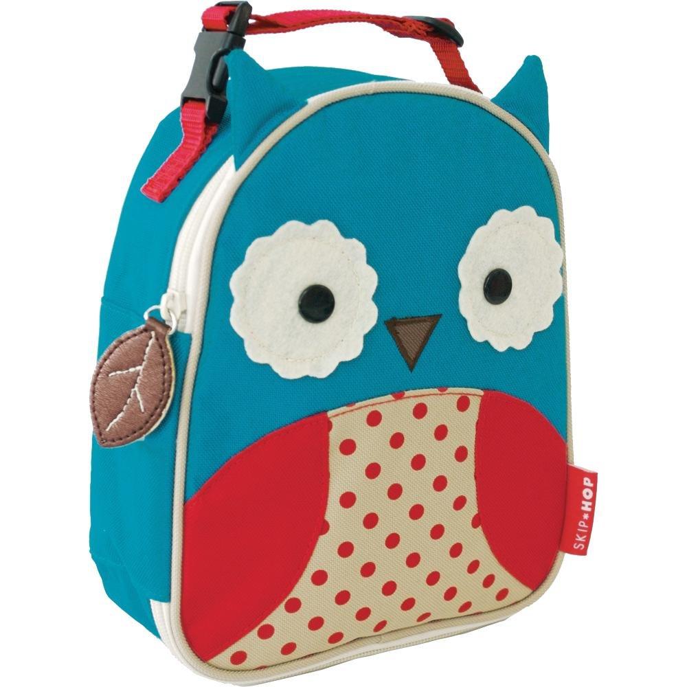 Skip Hop Zoo Kids Insulated Lunch Box, Otis Owl, Blue
