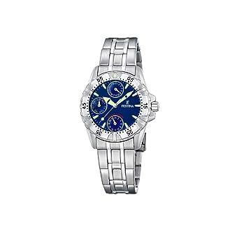 FESTINA F16060/4 - Reloj de Mujer de Cuarzo, Correa de Acero Inoxidable Color Plata: Festina: Amazon.es: Relojes