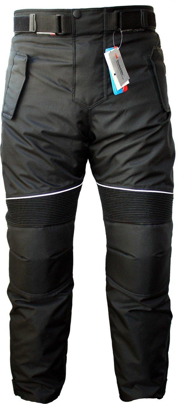 German Wear GW350T Pantalones de Moto, Negro, 48/S GW350T Schwarz 48