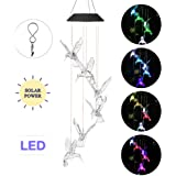 OCACA Wind Chimes, Hummingbird LED Solar Powered Color Changing Lights for Indoor/Outdoor Decoration, Mobile Waterproof…