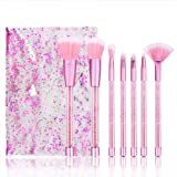 STELLAIRE CHERN Make Up Brushes Cosmetics Professional Essential 7 Piece Diamonds Eye Makeup Brush Set Brush plus Pouch Bag Case