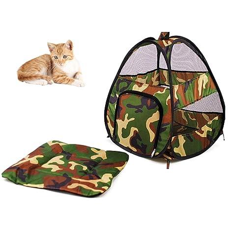 Yunt gato Casa Outdoor Gatos Perros tienda plegable con techos Soft y suave.