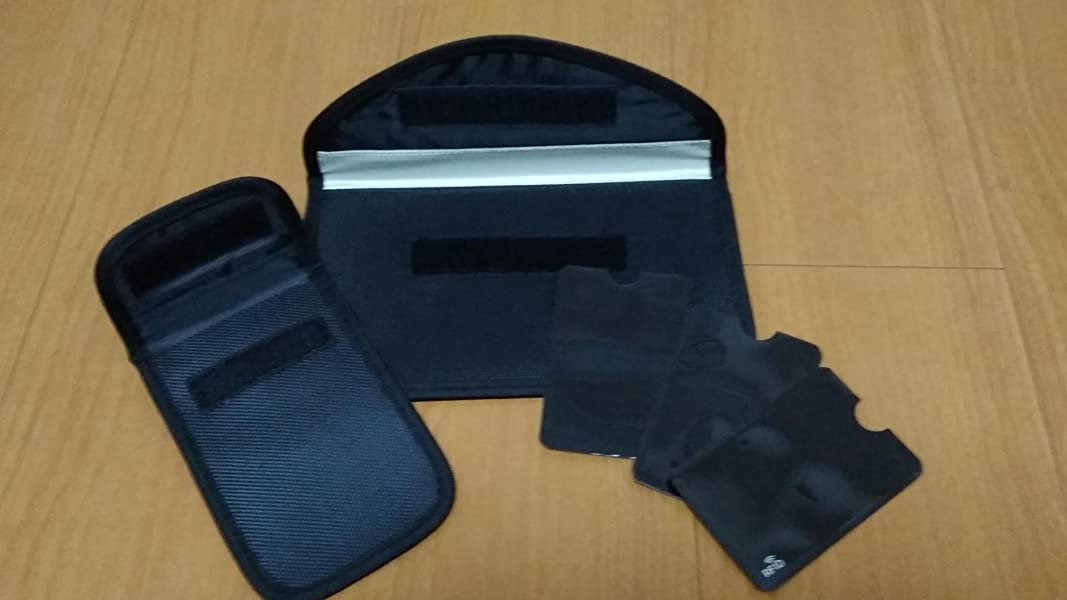 電波遮断ポーチ-電子キーカバー-ブロッキングポーチ-カーセキュリティリレーアタックによる車の盗難防止-スキミング防止