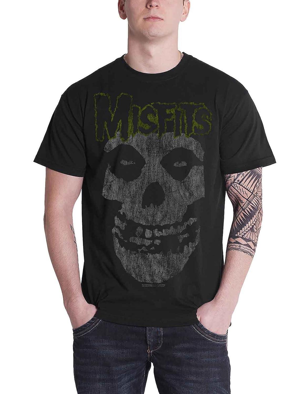 Misfits The T Shirt Classic Logo Distressed Print Official Mens Black
