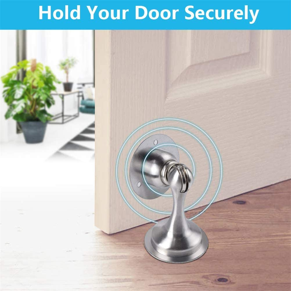for Bedroom 1 PCS No Drilling Wall Mount Door Catch Double-Sided Adhesive Tape Door Stop Stainless Steel