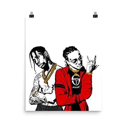 ea8c8d412f42 Amazon.com: Huncho Jack Quavo and Travis Scott Poster (8x10 to 24x36)  (12x16): Posters & Prints