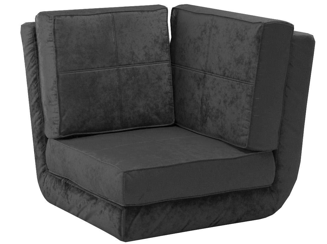 Urban Shop 784857577563 Corner Convertible Flip Chair, Black by Urban Shop