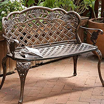 Magnificent Garden Bench Cast Aluminum Anti Corrosion Garden Seat Caraccident5 Cool Chair Designs And Ideas Caraccident5Info