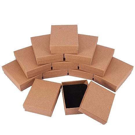 BENECREAT 12 Pack Cajas de Cartón para Joyería, Elegante Caja de Regalo Rectángulo y Tamaño