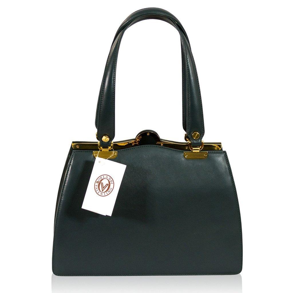 8e638881e11 Amazon.com: Valentino Orlandi Italian Designer Shamrock Green Calfskin  Leather Statement Shoulder Bag: Shoes
