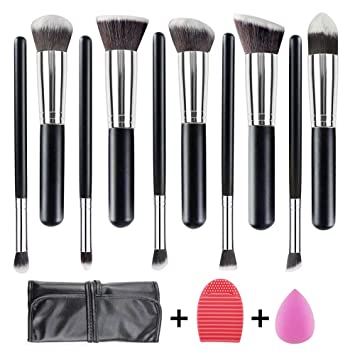 b831a3341 WEBEAUTY Makeup Brushes Set 10 Pieces Premium Synthetic Foundation Brush  Blending Face Powder Blush Concealers Eye