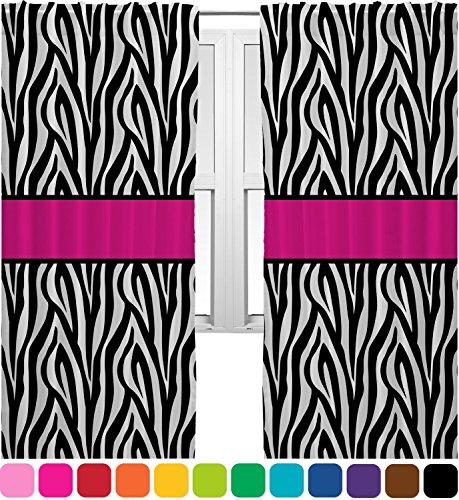 Zebra Print Curtain Panels