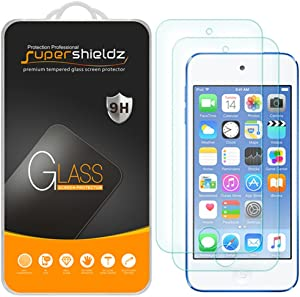 (2 Pack) Supershieldz for Apple New iPod Touch (7th Gen 2019 Released, 6th and 5th Generation) Tempered Glass Screen Protector, Anti Scratch, Bubble Free