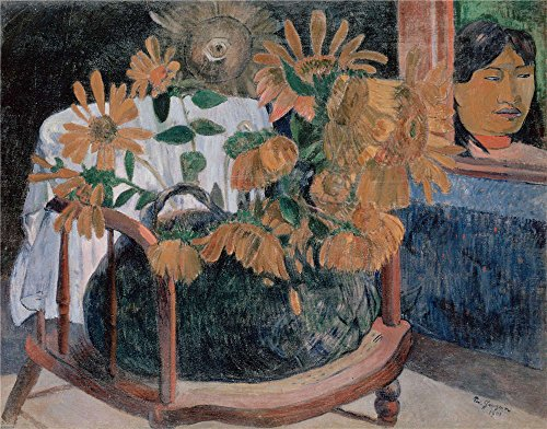 Oil Painting 'Gauguin, Paul_1901_Sunflowers', 16 x 20 inch / 41 x 52 cm , on High Definition HD canvas prints is for Gifts And Bed Room, Kids Room And Powder - Town Park Center Oak