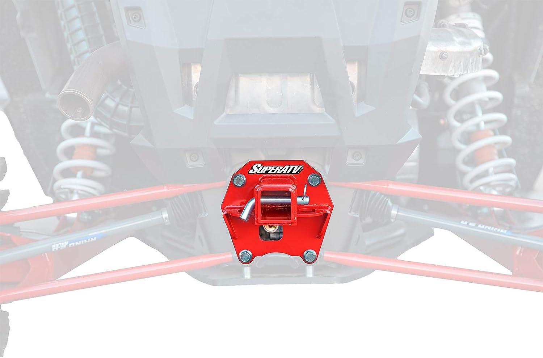Black 2016 SuperATV Heavy Duty 2 Rear Receiver Hitch for Polaris RZR XP Turbo//XP 4 Turbo