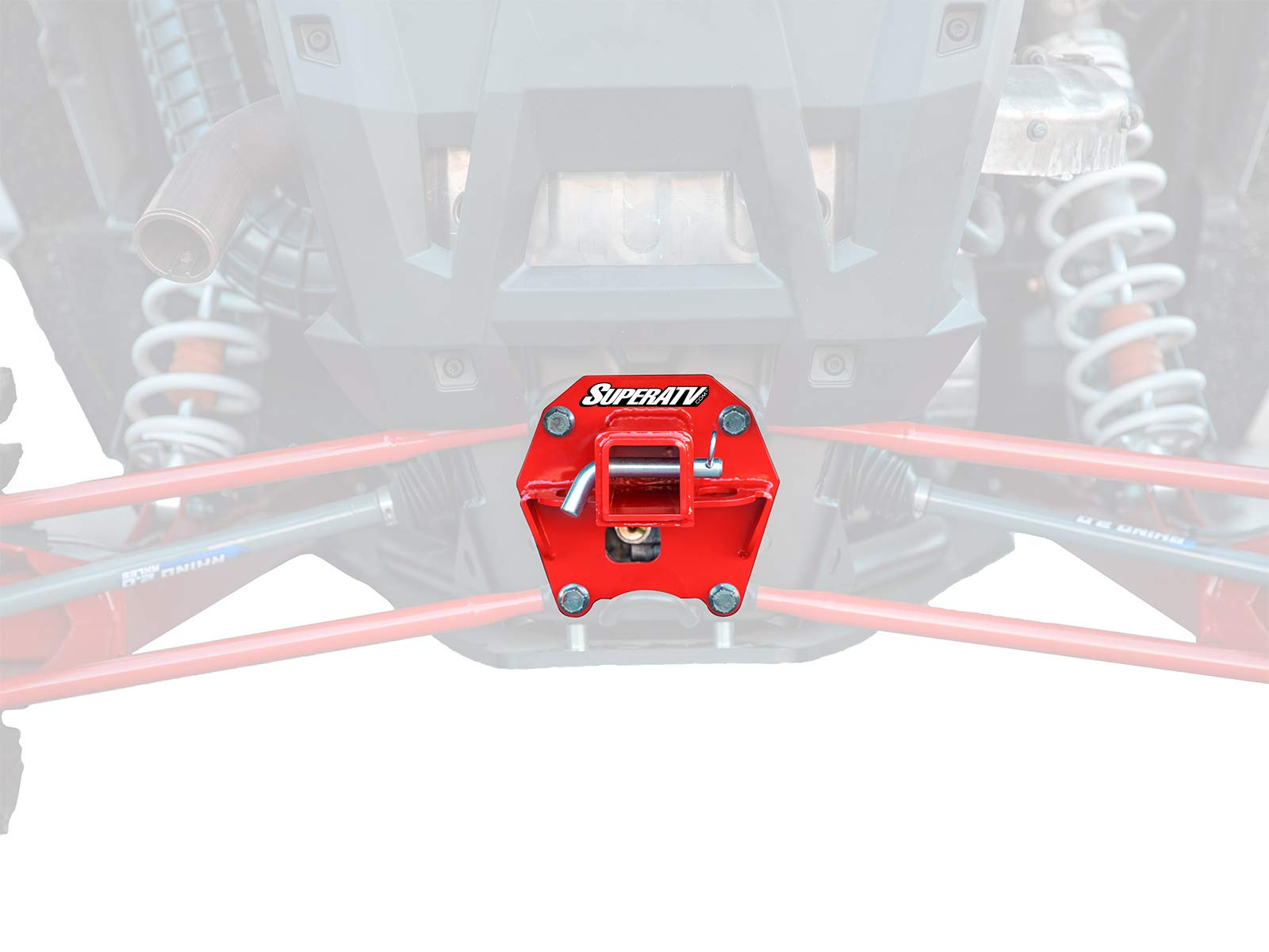 SuperATV Heavy Duty 2'' Rear Receiver Hitch for Polaris RZR XP Turbo/XP 4 Turbo (2017+) - Red by SuperATV.com