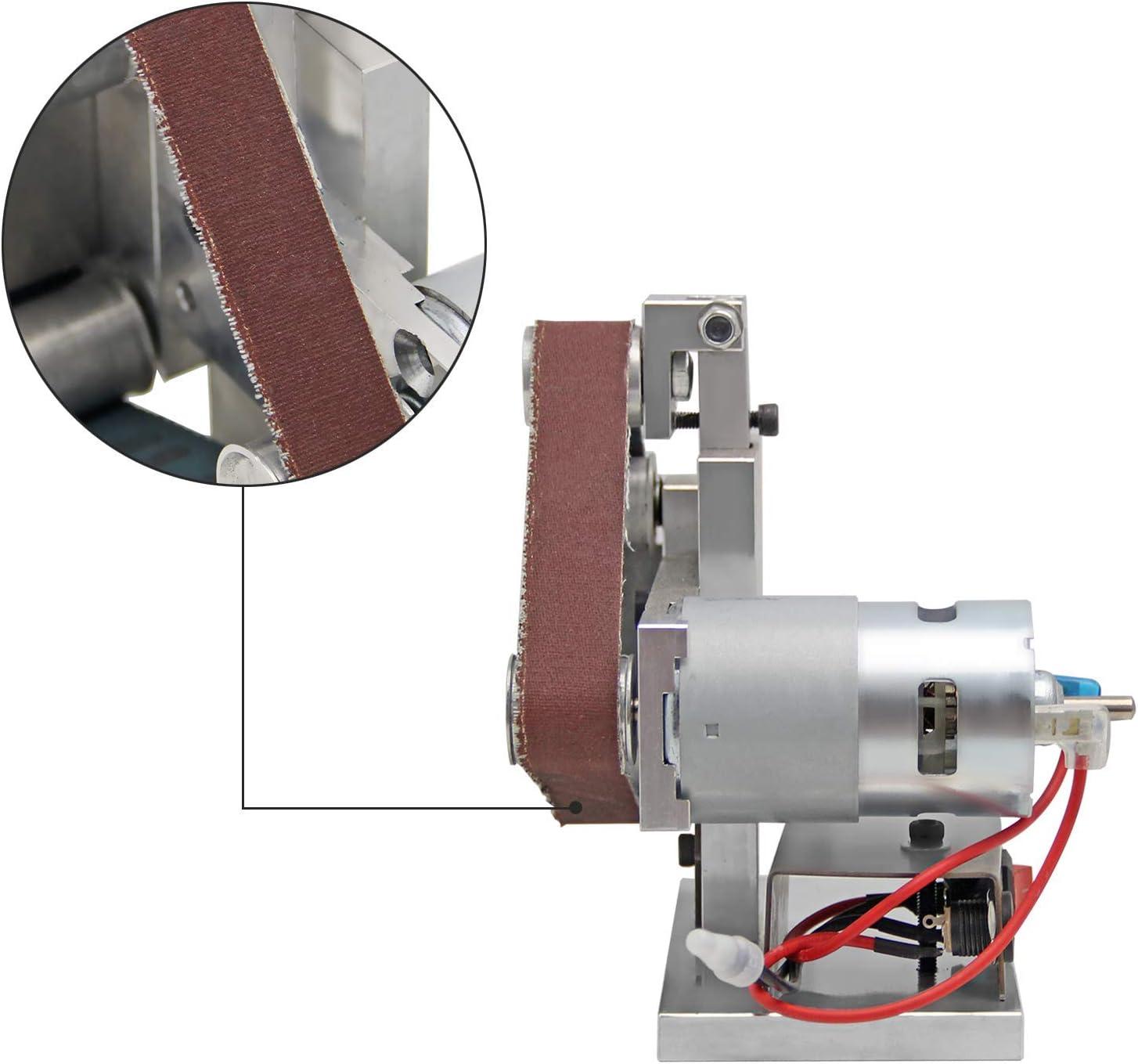 Herramienta de lijadora 120 mesh 740 x 40 mm para pulir madera contrachapada de cuero de tablero de part/ículas 10 piezas de cinta de lijado antiest/ática