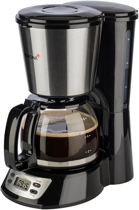 Korona 12113 - Cafetera de acero inoxidable con función de ...