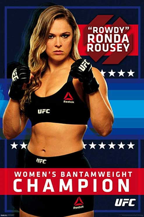UFC Ronda Rousey Collage Poster