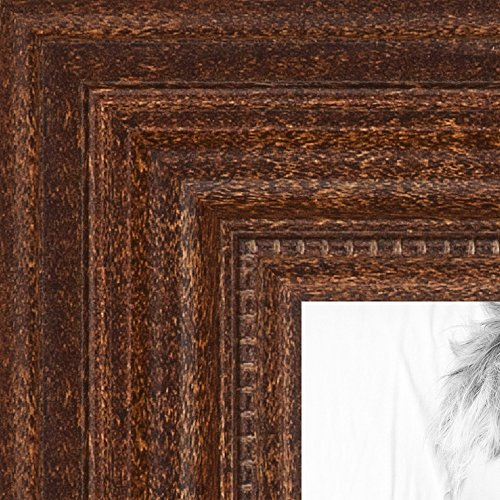 - ArtToFrames 8.5x11 inch Walnut Stain Wood Picture Frame, WOM0066-81375-YWAL-8.5x11
