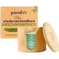 Bamboe houder + 18 Pandoo reinigingpads wasbaar van bamboe