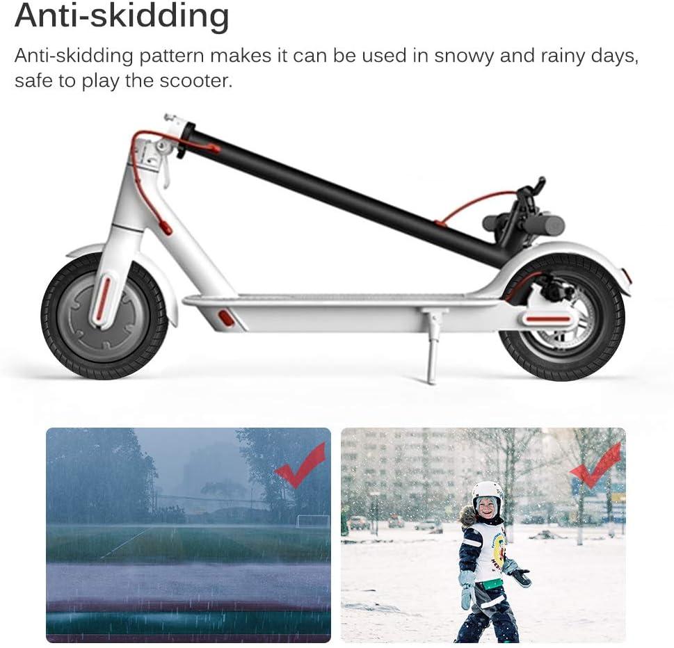 neum/ático de Repuesto Antideslizante para patineta de Scooter el/éctrico Xiaomi M365 PopHMN Rueda de neum/ático de Scooter Delantero//Trasero de 10 Pulgadas