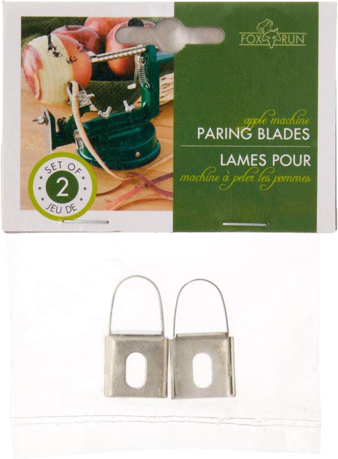 Fox Run 5779 Apple Peeling Machine Replacement Blades, Stainless Steel, Set of 2