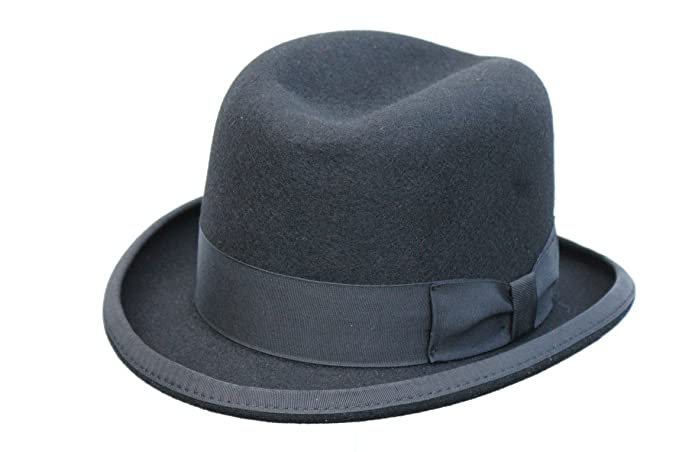 b16b3b45ad26 Image Unavailable. Image not available for. Colour  Men s Traditional Wool  Black Homburg Hat