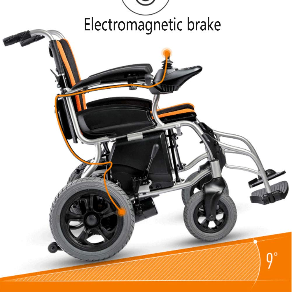 Amazon.com: Silla de ruedas eléctrica, batería eléctrica ...