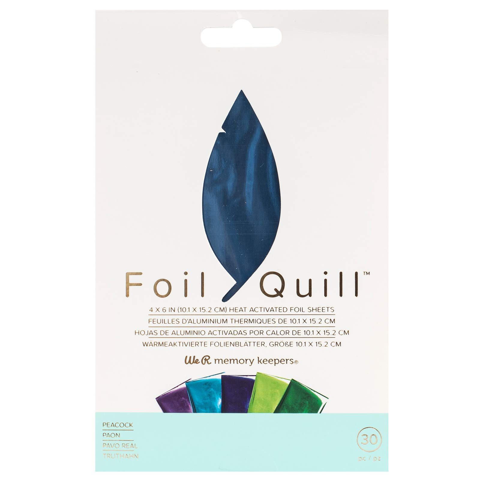 Foil Quill Foil Pack with 30 Foil Sheets - Peacock