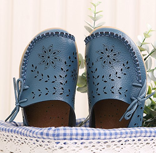Cuero Mujer de Baja QFISH 2 Zapatilla Azul awPHnxgq