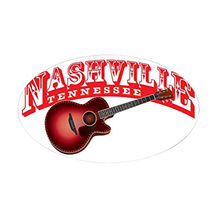 Amazon Com Cafepress Nashville Guitar Sticker Oval Oval Bumper