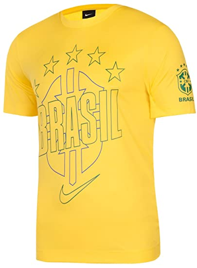 a6dfd0f5ec7 NIKE Brasil Core Poly Brazil (World Cup) Football Mens T-shirt at ...