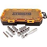 DEWALT Conjunto de soquetes de acionamento, SAE/Metric, unidade de 1/4 polegadas, 25 peças (DWMT73805)