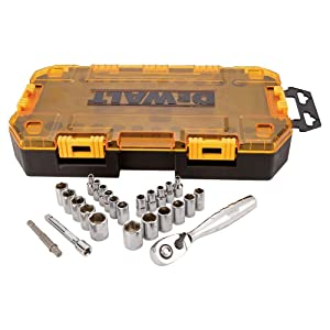 DEWALT DWMT73805 Tool Kit 1/4'' Drive Socket Set, 25 Piece