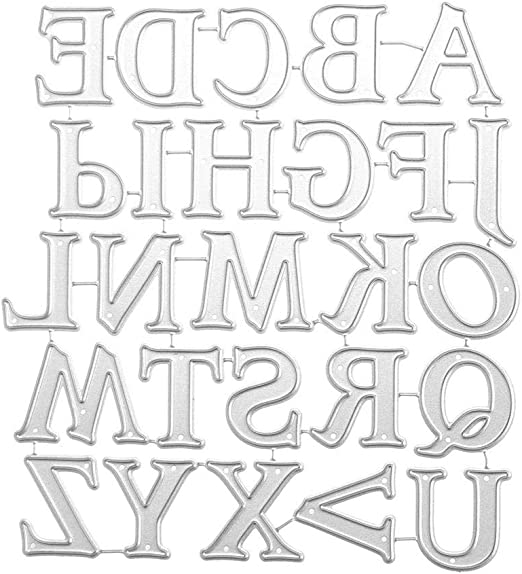 English Alphabet Letter Metal Cutting Dies Stencil for Album Cards Crafts Making