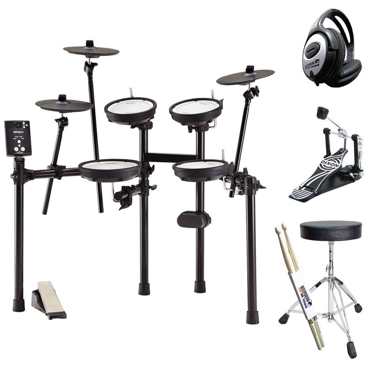 Schlagzeug Hocker Kopfhörer Drumsticks keepdrum Zubehörset für E-Drum