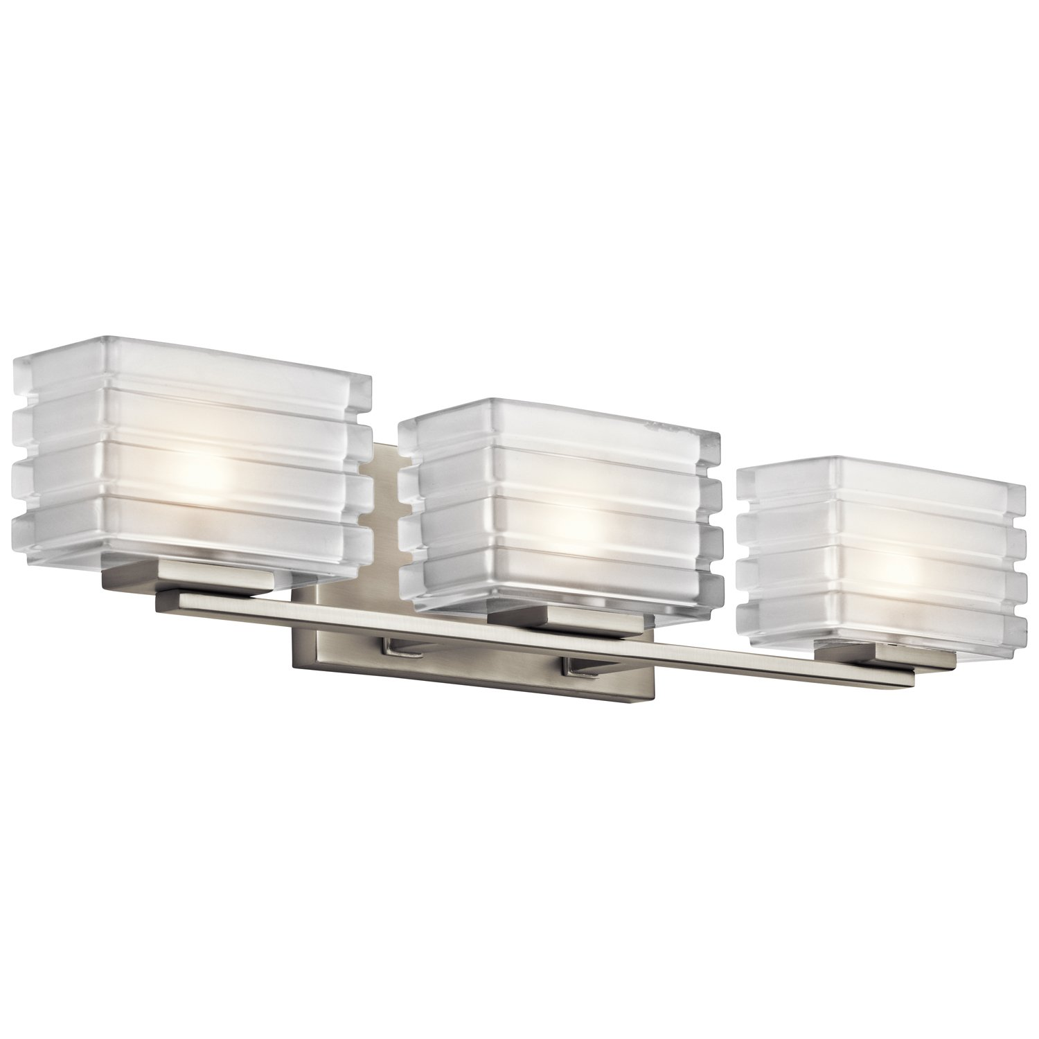 Kichler 45479NI Bazely Bath 3-Light Halogen, Brushed Nickel ...