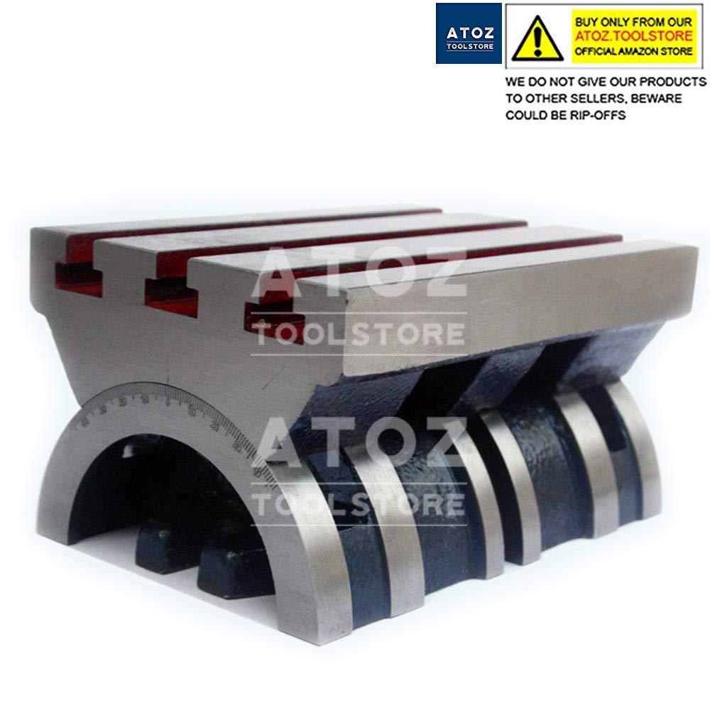 4'' - 10'' Adjustable Swivel Angle Plate 100mm - 250mm Tilting Tables Heavy Duty (7'' x 10'' Heavy)