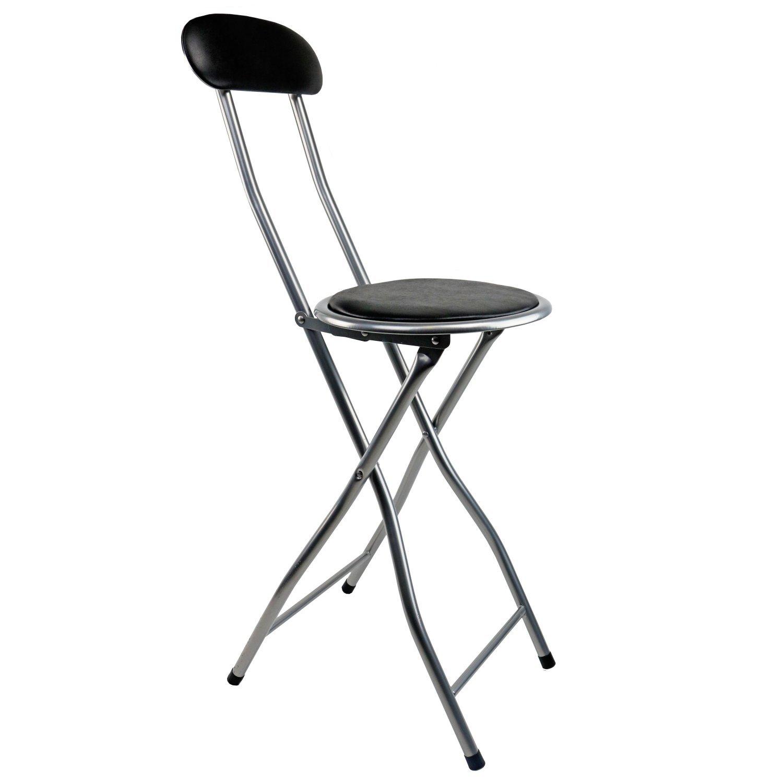 Oypla Black Padded Folding High Chair Breakfast Kitchen Amazon