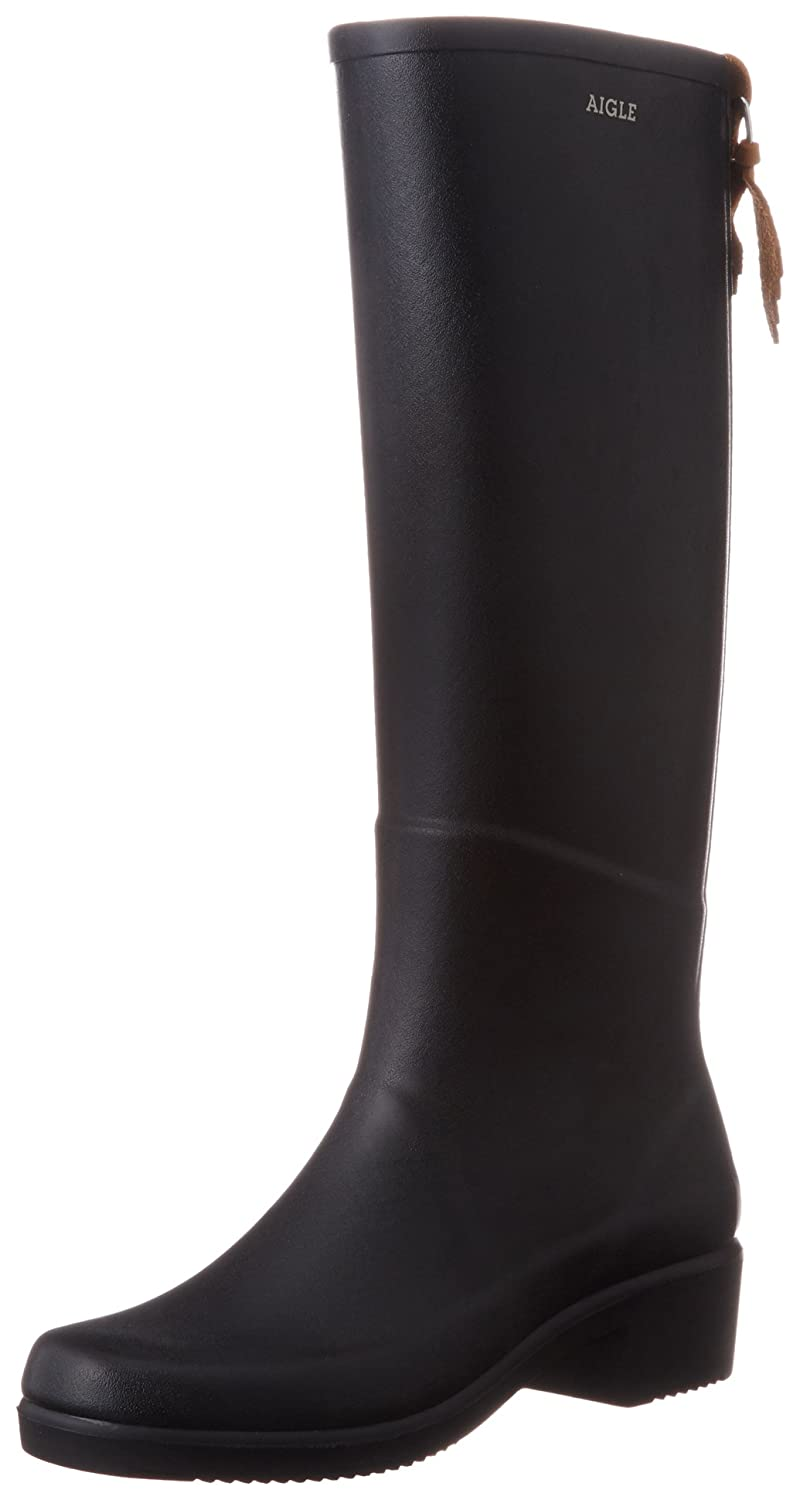 Aigle Womens Miss Juliette Rubber Boots B0063PXS8C 7 B(M) US|Black/Noir