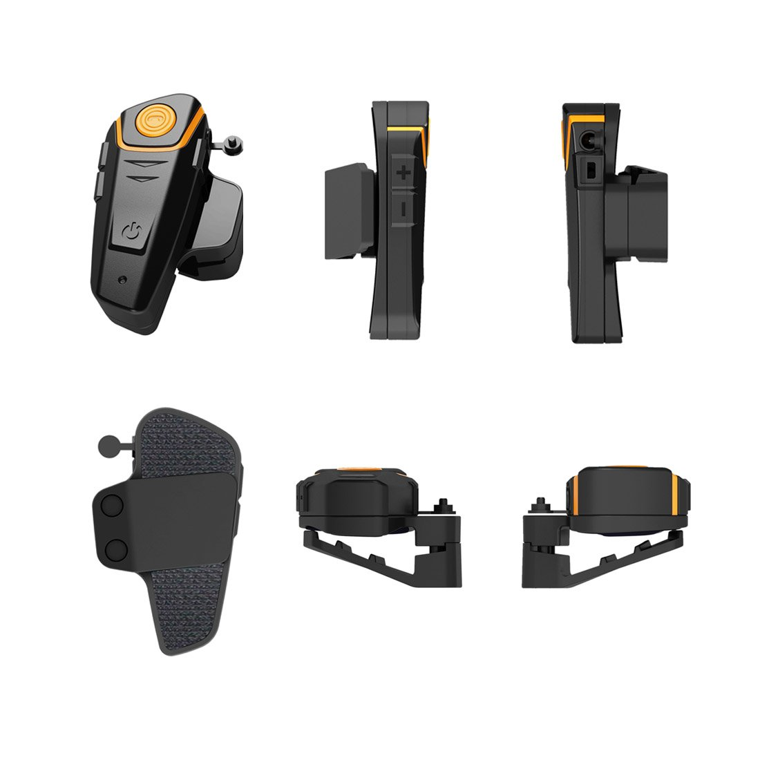 ENCHICAS BT-S2 Kit Oreillette Bluetooth Casque Moto Interphone Main Libre Intercom Moto Bluetooth