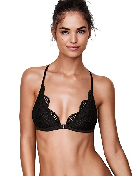 84252e746197 Amazon.com  Victoria s Secret Front Close Bralette Black Lace M  Clothing